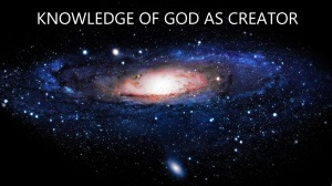 Knowledge of God as Creator