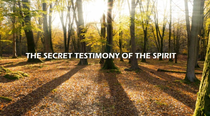The secret testimony of the Spirit