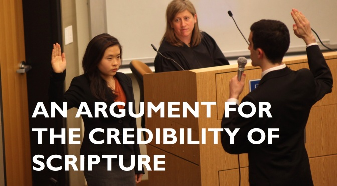 An argument for the credibility of scripture