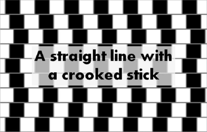 A straight line with a crooked stick